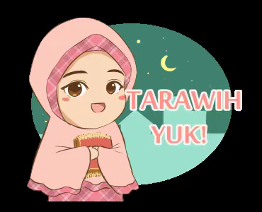 gambar animasi tarawih yuk bergerak