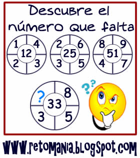 Retos Matemáticos, Desafíos Matemáticos, Retos para pensar, Piensa rápido, Repaso de Contenidos, Retos para estudiantes, Cuadrado mágico