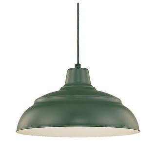 green metal hanging pendant light