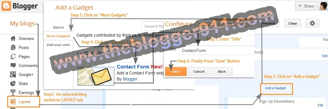 How to Add Official Contact Form your Blog