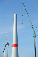A wind turbine being installed in Germany. (Credit: Sean Gallup/Getty Images) Click to Enlarge.