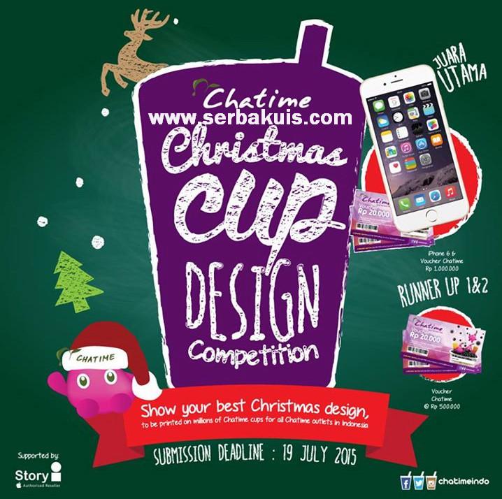 Kontes Desain Cup Chatime Hadiah iPhone & Voucher 2 Juta
