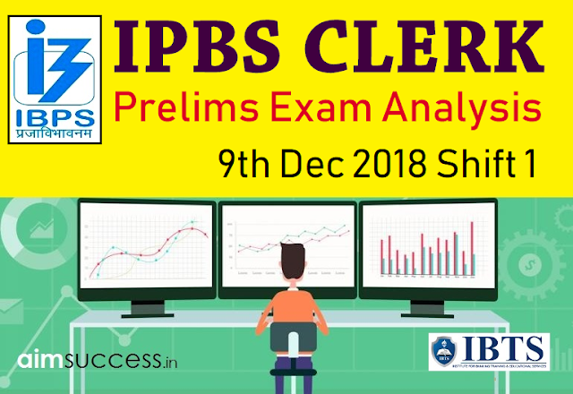 IBPS Clerk Prelims Exam Analysis & Review 2018: 9th Dec Shift 1