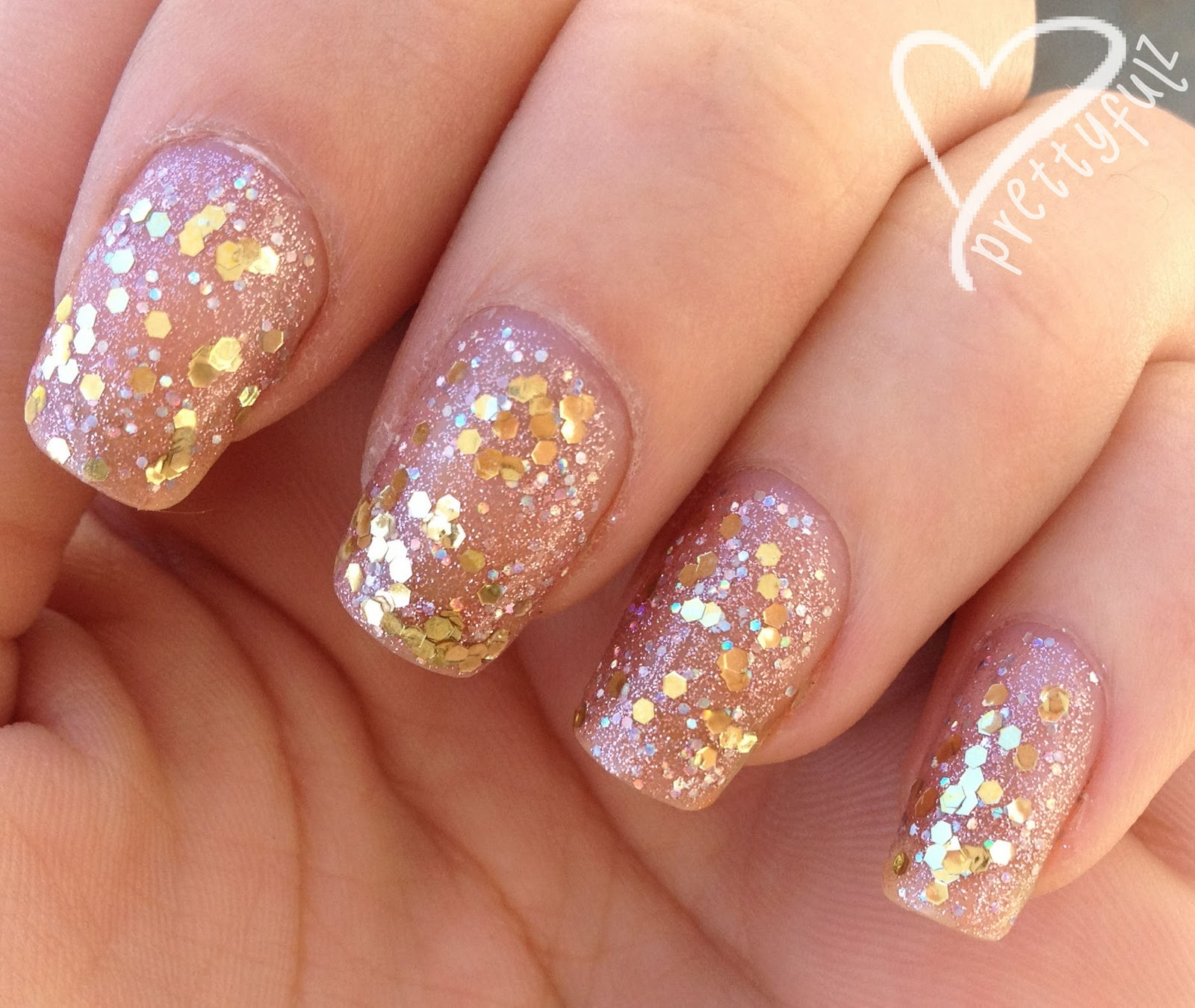 Prettyfulz Fall Nail Art Design 2011: Prettyfulz: Teenage Dream & Milani Gold Nails