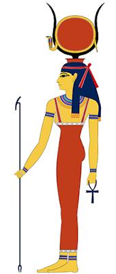 Egyptian Babylon: Hathoor as drawn by Jeff Dahl (wiki commons)