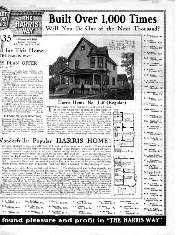 Harris Home No. J-6 @ Sears Homes of Chicagoland