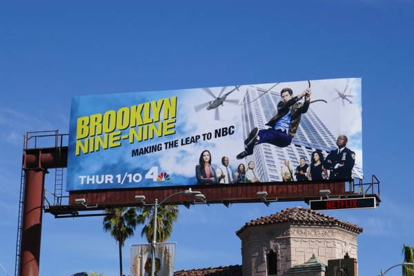 Brooklyn Nine-Nine s6 Making the leap NBC billboard