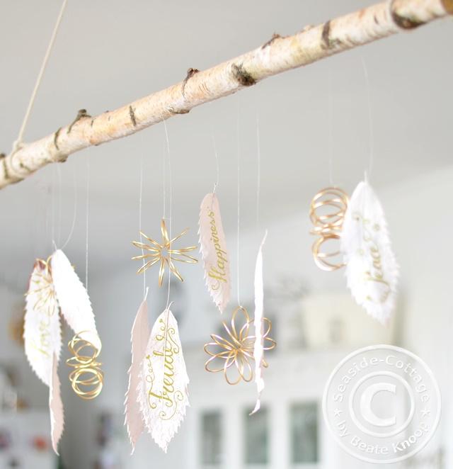 Winterdeko, dekorieren vor Weihnachten, Handlettering