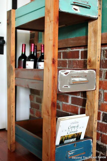 upcycled drawers, shelf, organization, storage, paint, minwax, http://goo.gl/MQJhPe