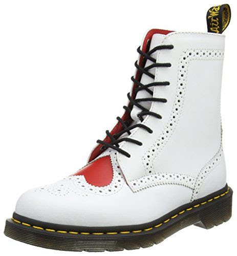 Image of Dr. Martens Bentley II Heart Boot in White and Red