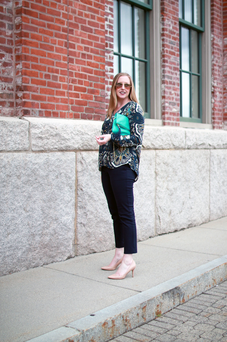 boston style blogger, h&m sale, navy is the new black