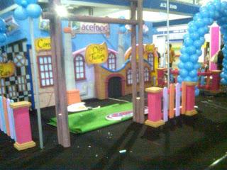 Dekorasi stand / booth Pameran expo  promosi produk makanan