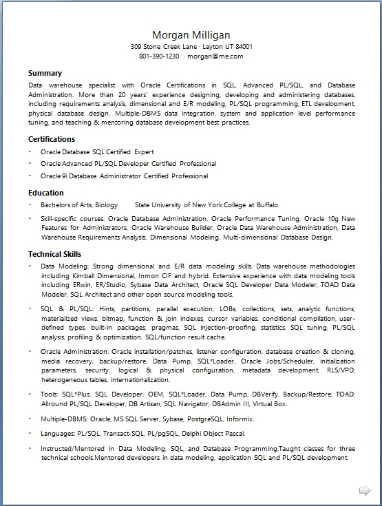 Data Warehouse Specialist Resume Format in Word Free Download - data modeling resume