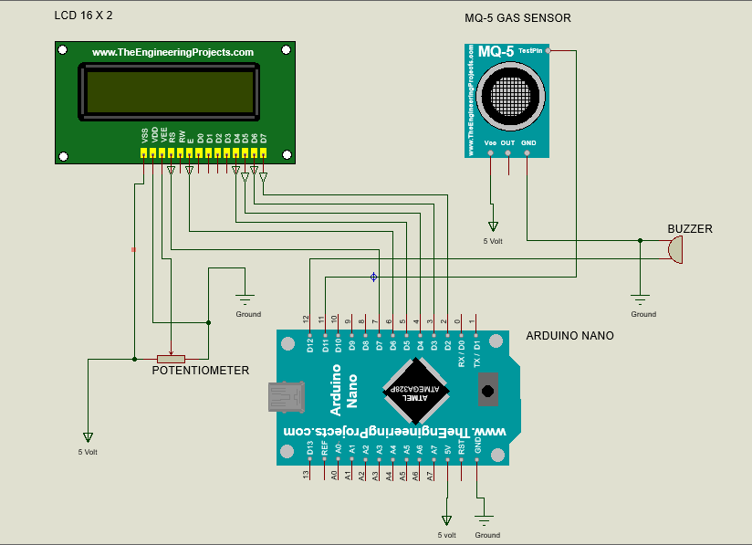 Superb Gas Leakage Detector Using Arduino And Gsm Module With Sms Alert And Wiring Digital Resources Antuskbiperorg