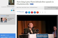 Larry Flynt pornography free speech Virginia Film Festival Charlottesville