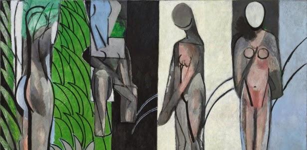 Banhistas no Rio - Pinturas de Matisse, Henri - (Fauvismo) Francês