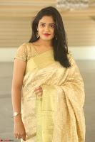 Harshitha looks stunning in Cream Sareei at silk india expo launch at imperial gardens Hyderabad ~  Exclusive Celebrities Galleries 046.JPG