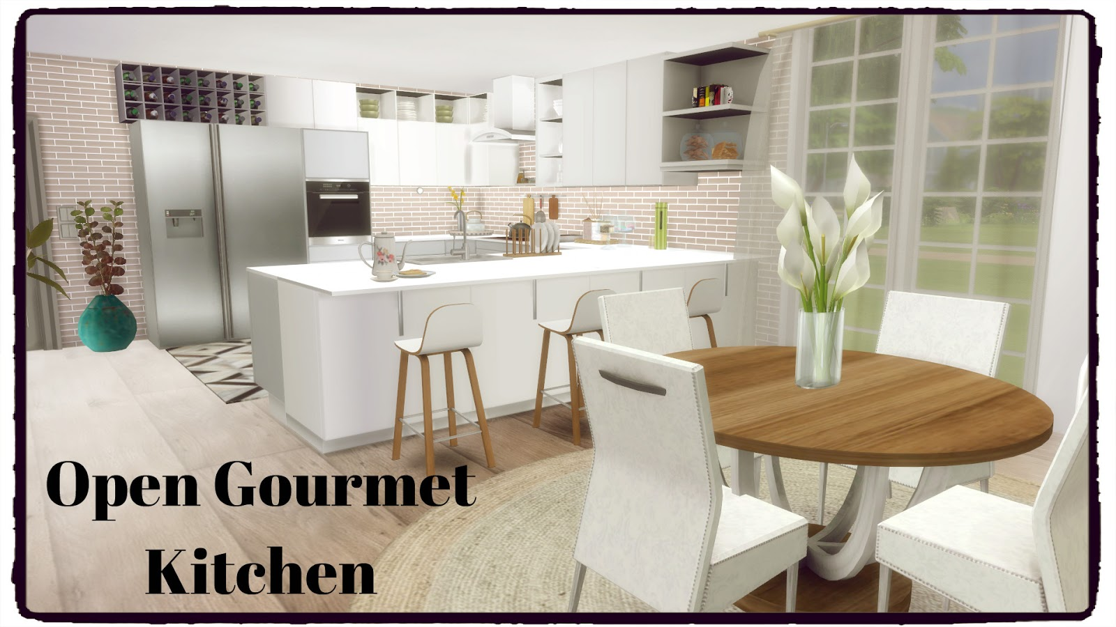 Gourmet Kitchen Sims 4 Open Gourmet Kitchen Dinha