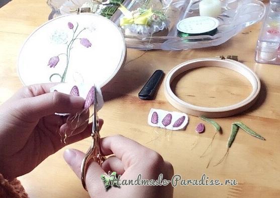 Мастер-класс. Объемная вышивка тюльпаны (25)