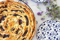 Τάρτα με Σπανάκι, Μανιτάρια & Φέτα - by https://syntages-faghtwn.blogspot.gr
