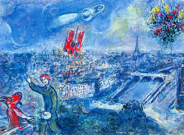 Art et glam paris peint par marc chagall for Chagall tableau