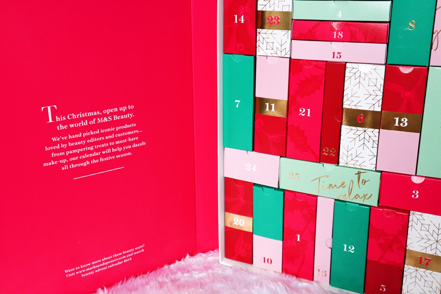 marks and spencer beauty advent calendar contents