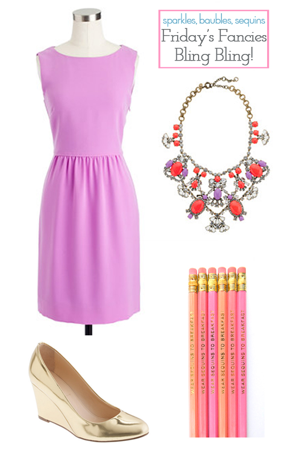 c87fdd1a1e J.CREW camille dress   J.CREW crystal color stone necklace   FOREVER 21  colored bead bracelet   J.CREW martina metallic wedges   AMANDA CATHERINE  DESIGNS ...