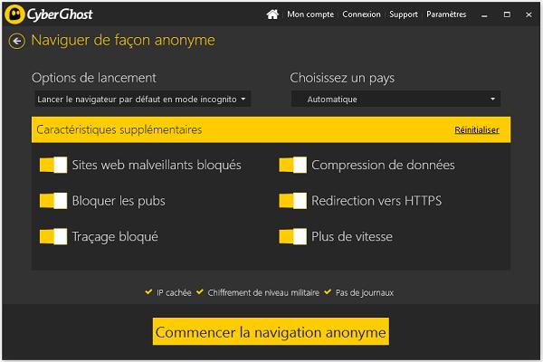 تحميل برنامج الحفاظ على الخصوصية CyberGhost VPN آخر إصدار