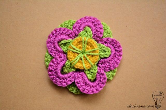 idea ivana: Funky Flower Crochet Pattern