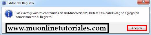 Ejecutando registros OBDC en 64 bits
