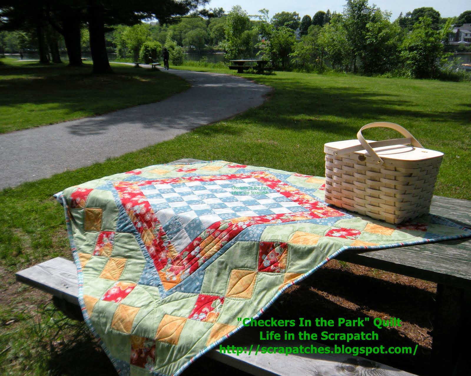 My  Checkers Picnic Quilt