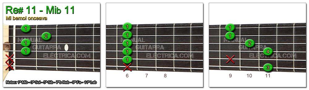 Acordes Guitarra Mi Bemol onceava