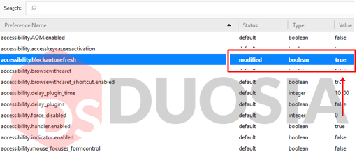 disable auto refresh firefox