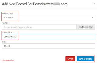 Cara Mengganti Domain Blogspot Menjadi .COM di Niagahoster 7