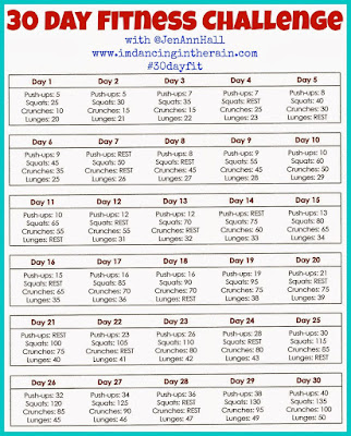 30 Day Workout Plan Fitness Challenge
