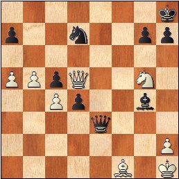 Partida de ajedrez Fuentes - Martínez Mocete, posición después de 40.Axf1