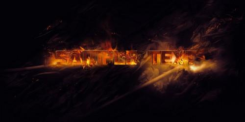 Efek Kebakaran Tipografi