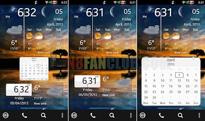 Calendar & Weather Clock Widgets for Nokia N8 & other Belle