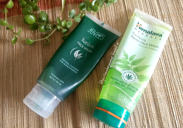 Jovees Neem Face Wash and Himalaya Herbals Neem Face Wash Review