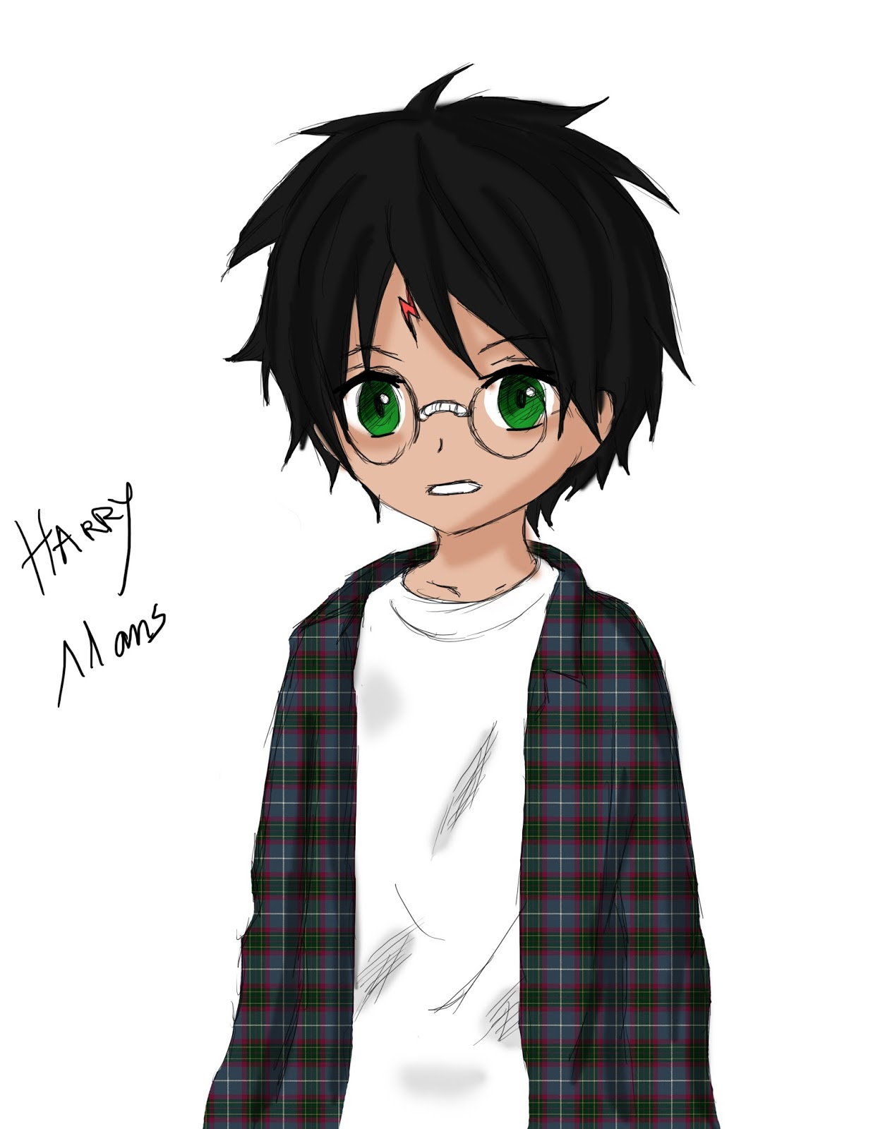 dessin manga harry potter
