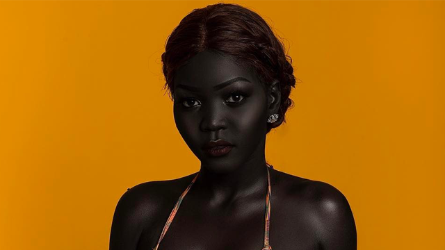 this south sudanese model celebrates melanin beauty after being asked if she d bleach her skin. Black Bedroom Furniture Sets. Home Design Ideas