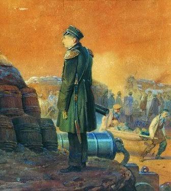 Адмирал Петр Нахимов на бастионе