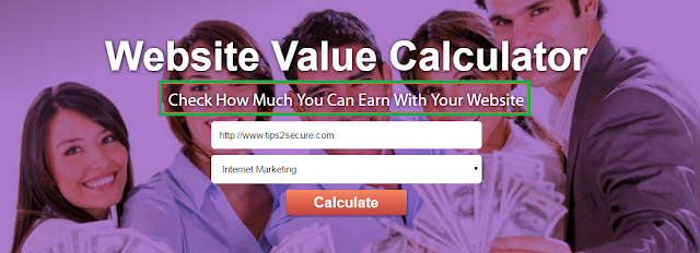 website earning calculator
