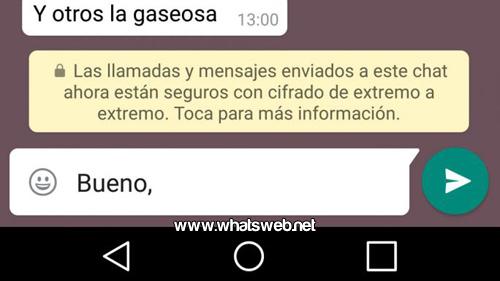cifrado de extremo a extremo en WhatsApp