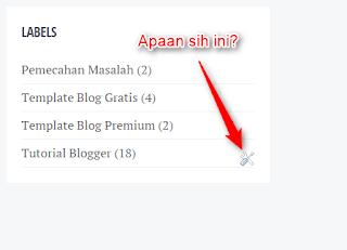 Icon obeng atau tang di blogger