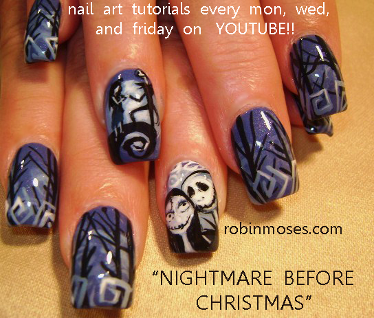 Nail Art By Robin Moses Nail Art Nightmare Before Christmas Nails