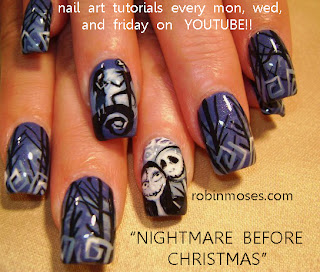 Nightmare Before Christmas In French.Nightmare Before Christmas French Manicure Papillon Day Spa