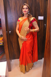 Surabhi looks stunning in Saree at Nakshatra Fashion Store Launch at Suchitra X Road 05.JPG