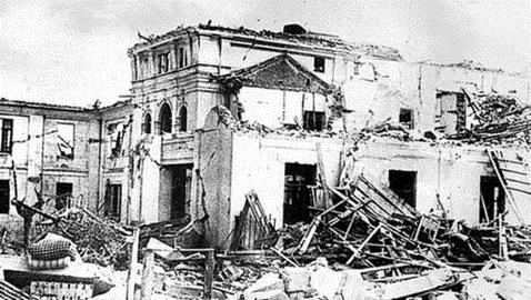 Explosión de un polvorín de la Armada en Cádiz de 1947.