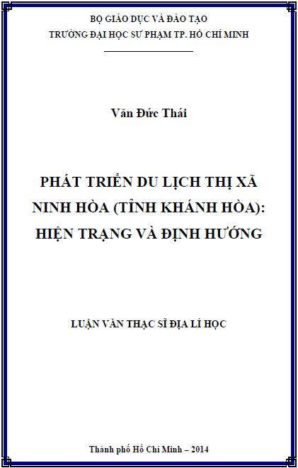 Phát triển du lịch thị xã Ninh Hòa (tỉnh Khánh Hòa) hiện trạng và định hướng